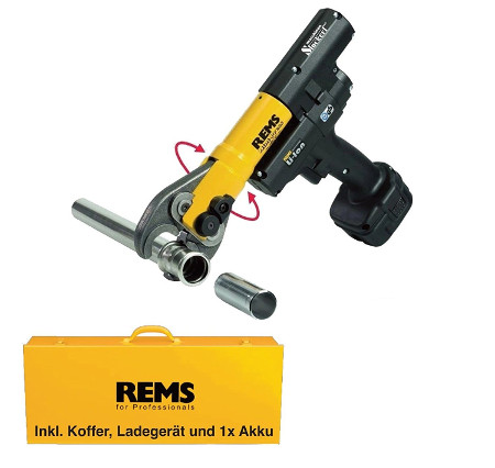 REMS Presszange Mini Press - Ideal um Kupferrohre verbinden zu können